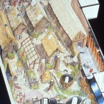 Concept Art of an Aerial Shot of the Ride